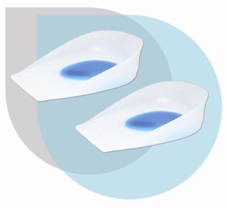 Подпяточники ортопедические силиконовые с бортиками СТ-41